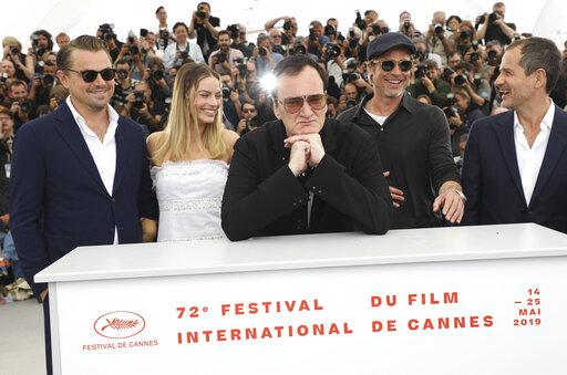 Leonardo DiCaprio, Margot Robbie, Quentin Tarantino, Brad Pitt, David Heyman