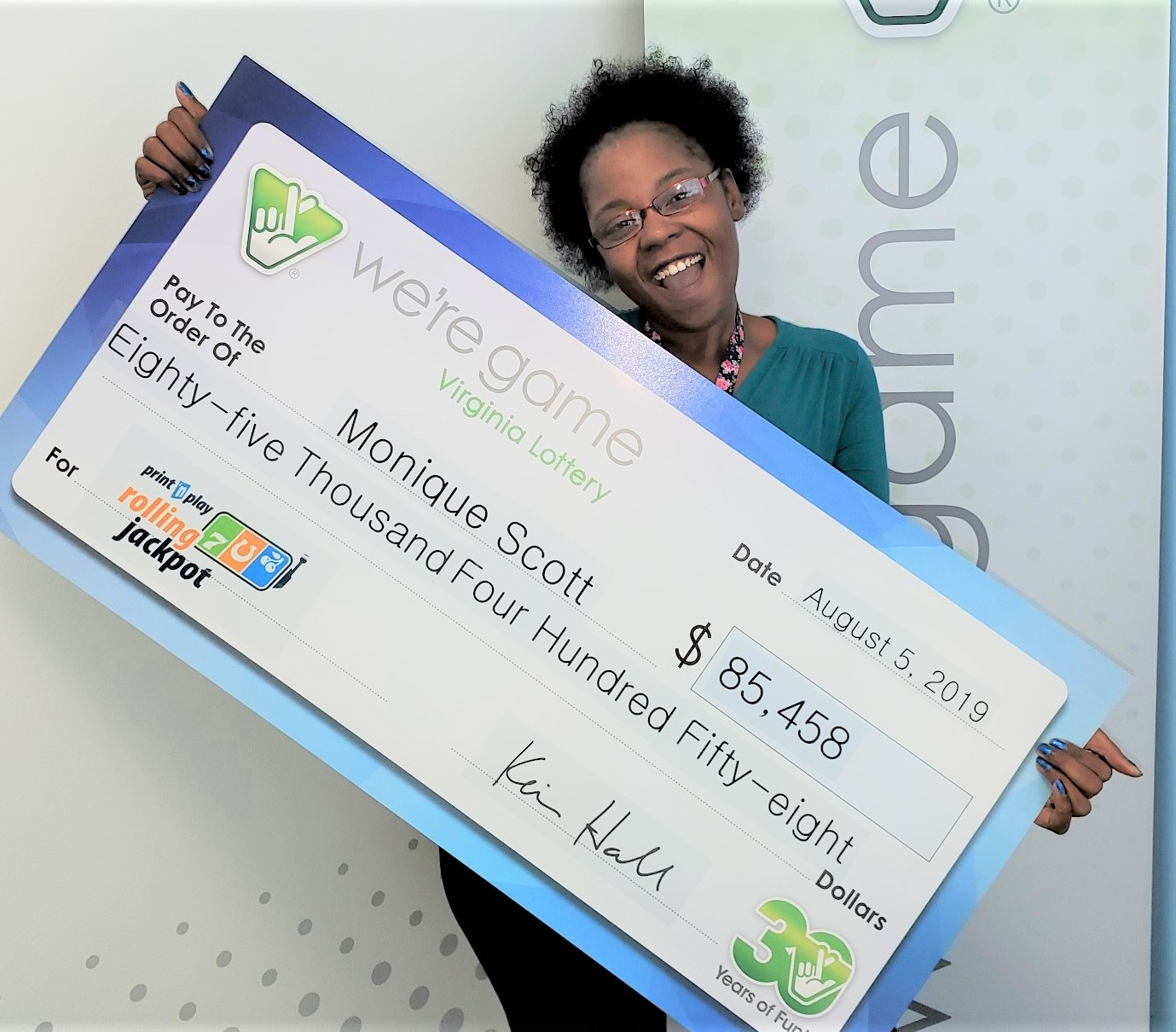 Suffolk woman wins more than $80,000 from Virginia Lottery