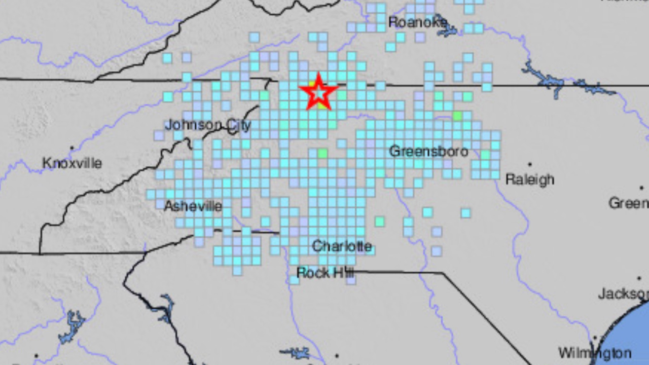 5 1 Magnitude Earthquake Felt Across North Carolina Wavy