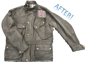 ISDT jacket before the jacket was sent to barbour AFTER 23