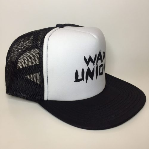 Weed Leaf Text Trucker Hat