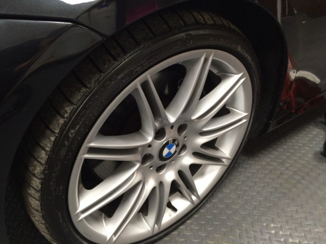 Close up of BMW AlloyWheels without any rim  protection.