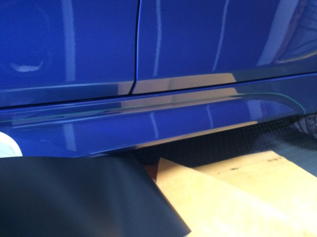 This a before picture, how the BMW side skirts looked.