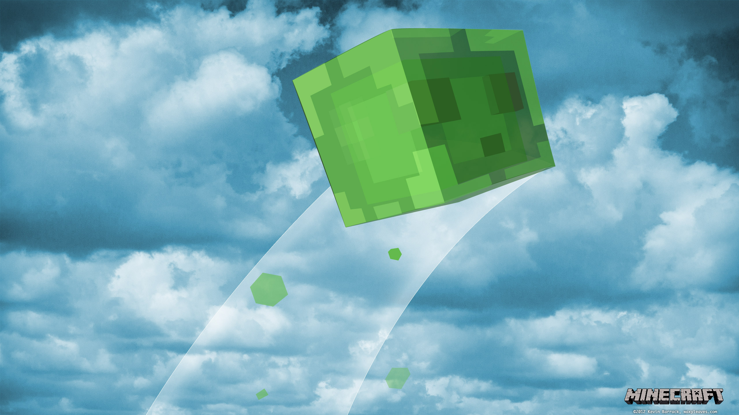 2560 Slime Minecraft X Wallpaper 1440
