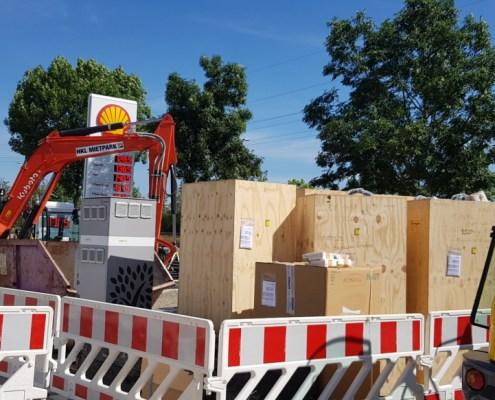 Baustelle Ladepark allego