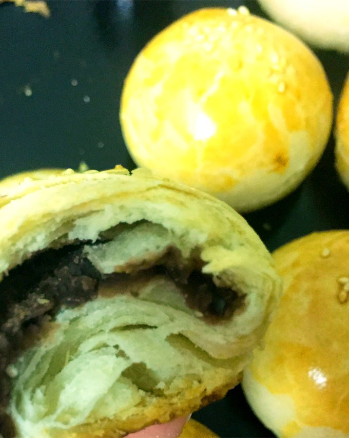 Chinese Short Pastry Red Bean