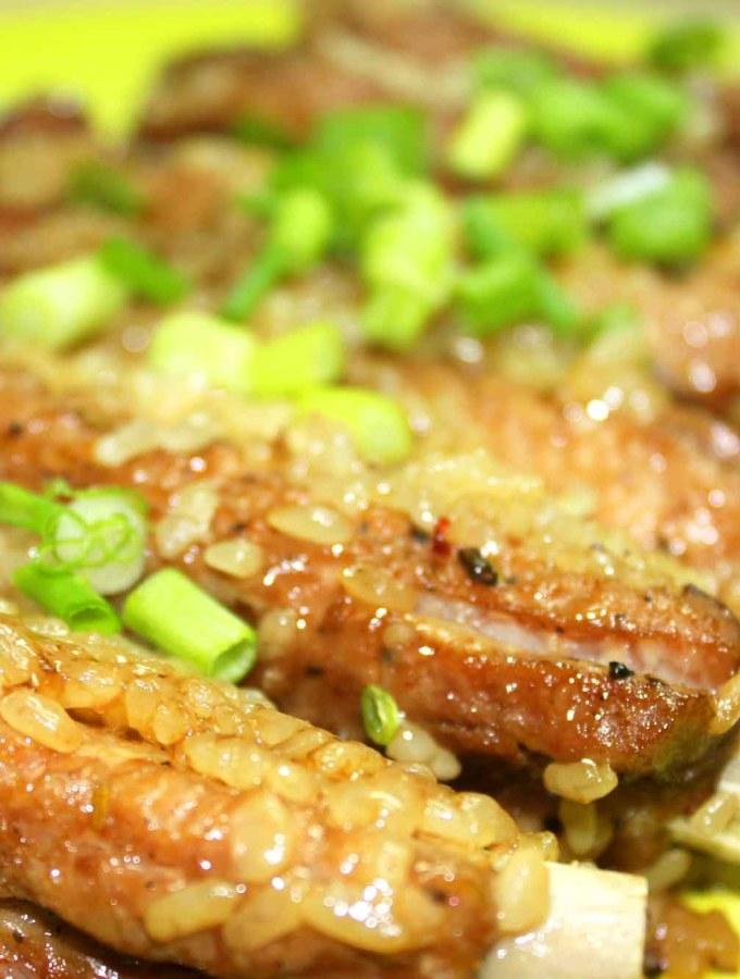 Sticky rice steamed ribs instant pot