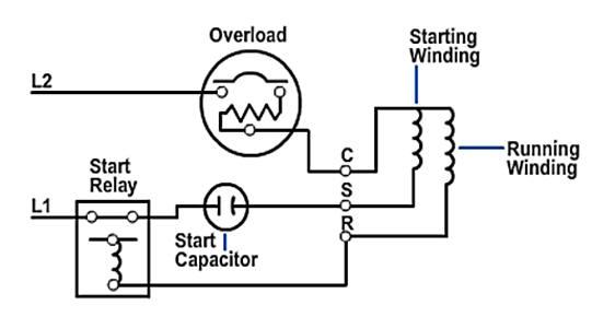 Single Phase Capacitor Start Motor Wiring Diagram