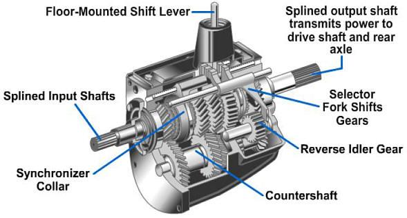 Manual Transmission Diagram Gears Manual Transmission