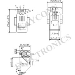 Duct Smoke Detector Wiring Diagram Cat5 Twisted Pair In Series Database Telephone Jack Wire Color Alarm Sounder 616w 4p4c Modular Handset