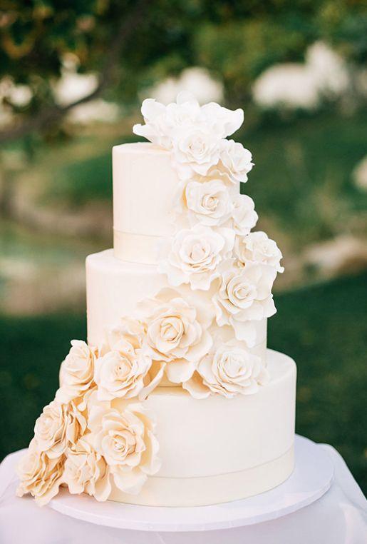 All White Wedding Cakes T