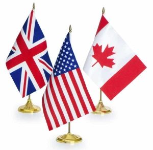 UK-USA-Canada Flags