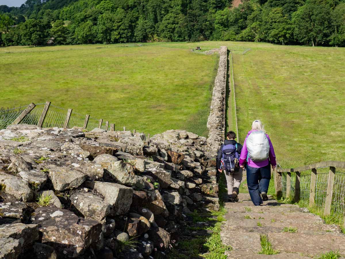 Hadrian's Wall Walk near Birdoswald