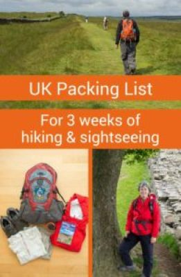 This ultimate packing list for UK hiking and sightseeing provides everything the active traveller needs for a multi-week trip