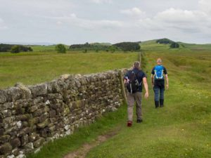 Guys Hiking Hadrian's Wall