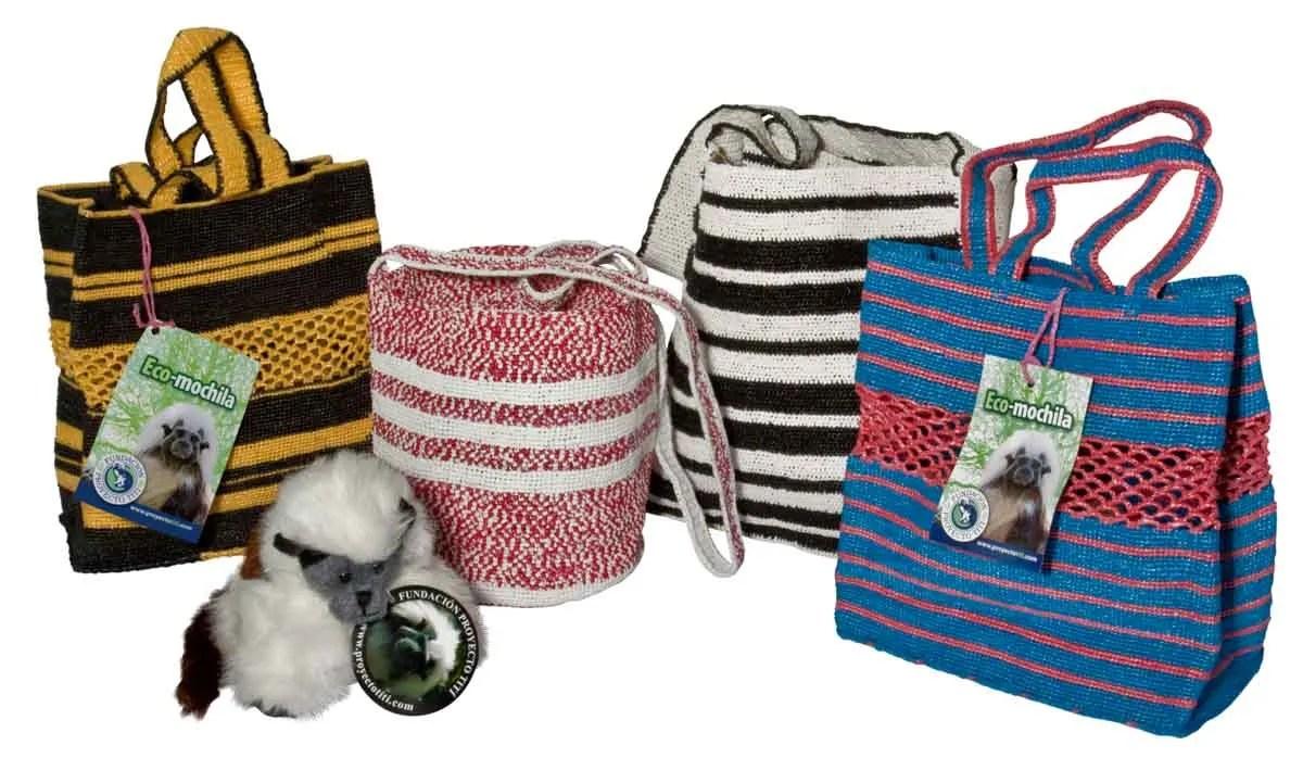 Eco mochilas Cotton Top Tamarins
