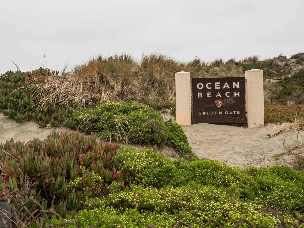 Ocean Beach Sand Dunes in San Francisco
