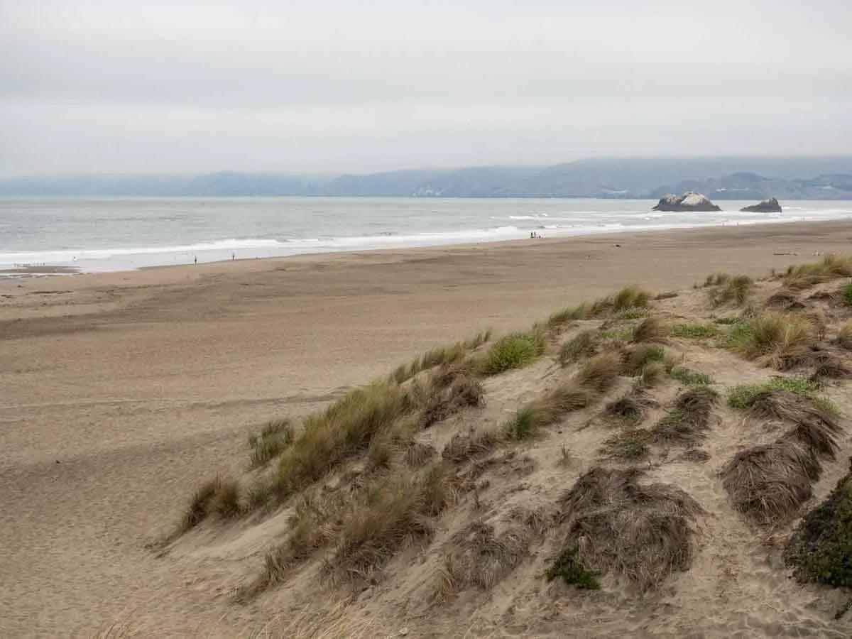 Sand Dunes in California- San Francisco Ocean Beach