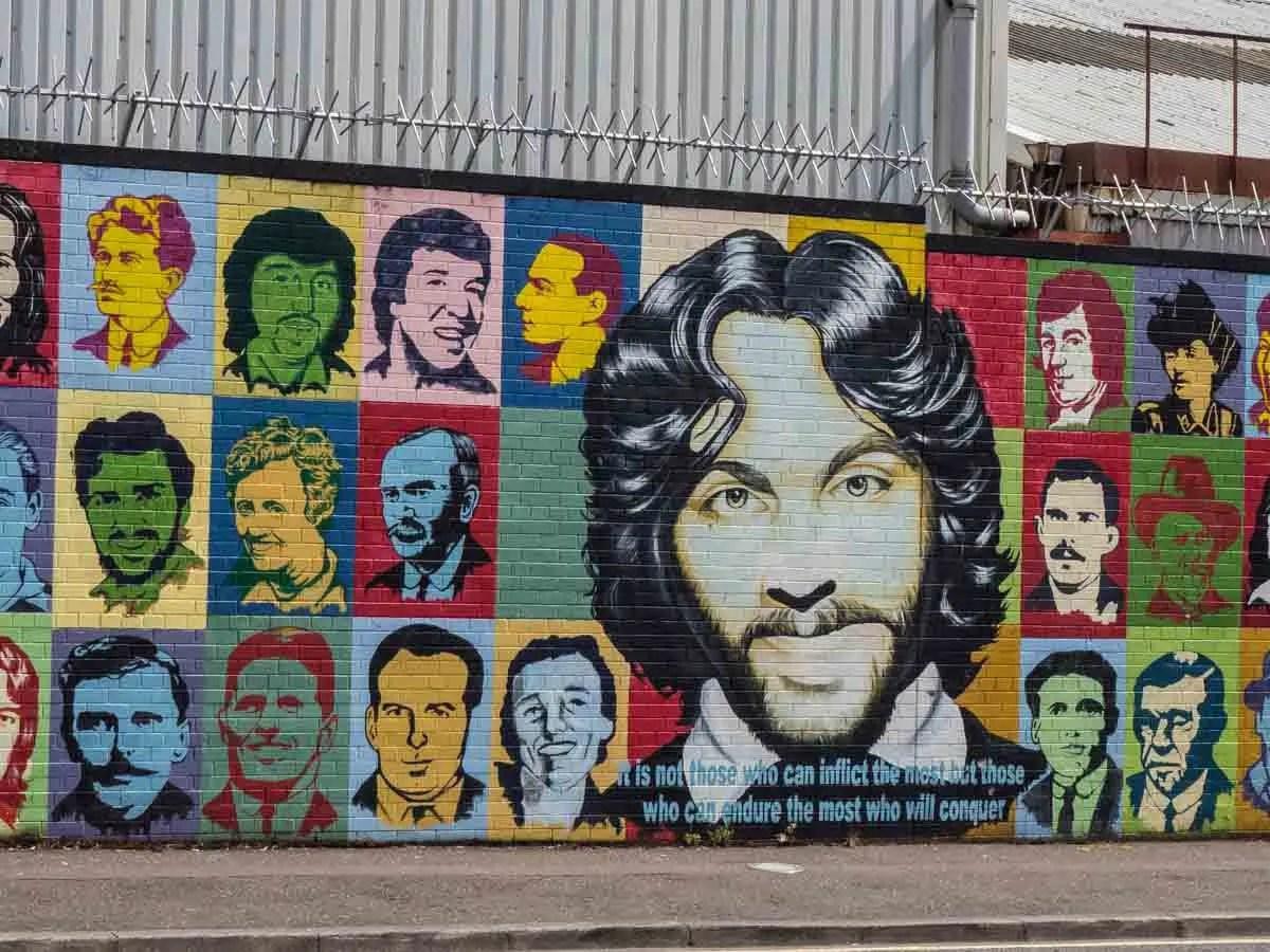 Belfast Catholic side murals