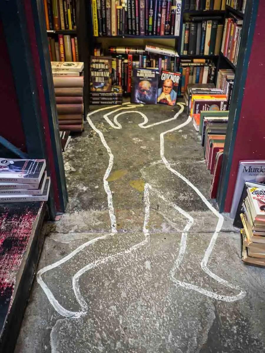 Hay on Wye Bookshops Mystery Books