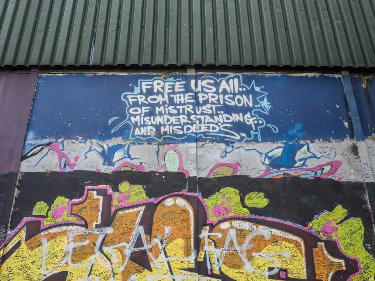Belfast Murals Peace Wall Messges