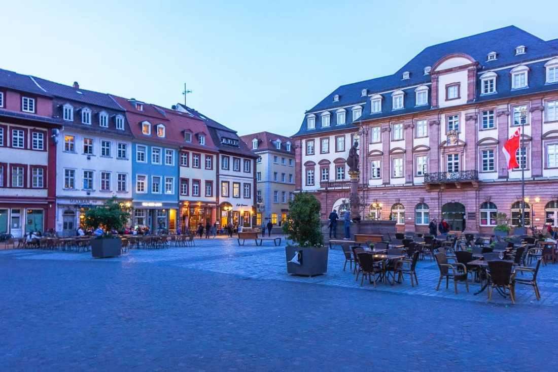 Heidelberg at Night via Wayfaring With Wagner