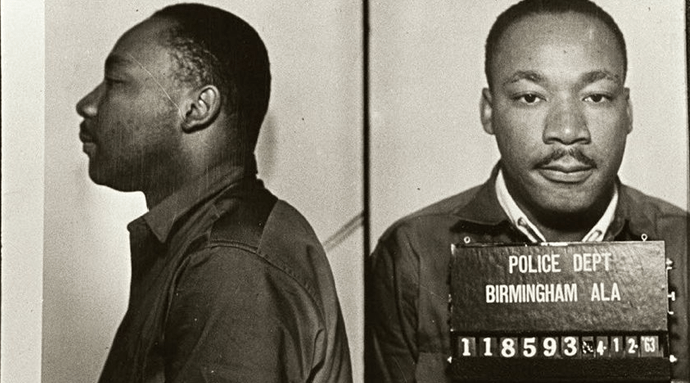 Dr. King's mugshot from Birmingham, AL 1963
