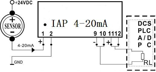 SIP12 4-20mA to 4-20mA Passive Signal Isolated Converter