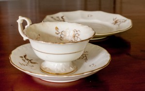 DISHES Judge Mellen wedding china (1831) and others.