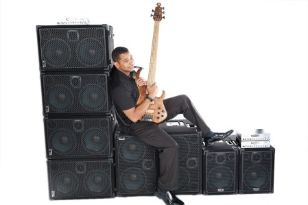Bass player David Dyson, endorsee of Wayne Jones AUDIO.