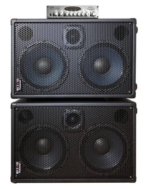 WJBP Stereo Valve Bass Pre-Amp & WJ 2x10 Powered cabs