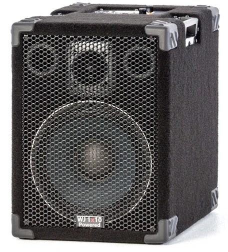 Wayne Jones Audio - 1000 Watt 1x10 Powered Bass Cabinet for bass guitar players & double bass players. Bass guitar amp/powered bass guitar speaker .