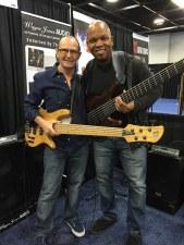 Bass players Wayne Jones Audio & endorsee Mark Peterson @ NAMM 2016