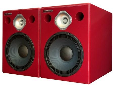 Jones-Scanlon studio monitors, bi-amped with DSP