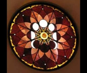 Leaded Stained Glass Lunar Cycle Window ©Cain Art Glass 2016, All Rights Reserved