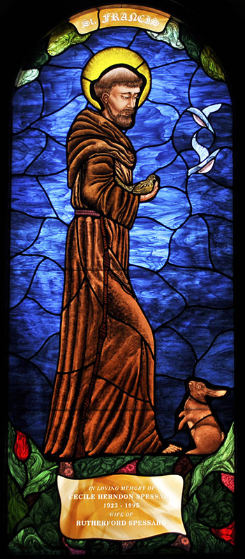 St. Francis Stained Glass Window ©Cain Art Glass 2016, All Rights Reserved