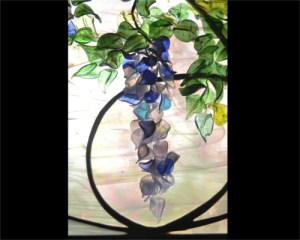 Contemporary Art Glass Wisteria ©Cain Art Glass 2016, All Rights Reserved