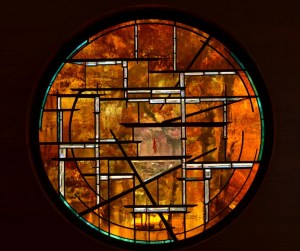 Contemporary Stained Glass Chalice Unitarian Universalist