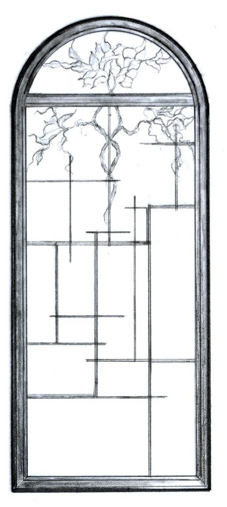 Stained Glass Window Art Glass Drawing/Designs ©Cain