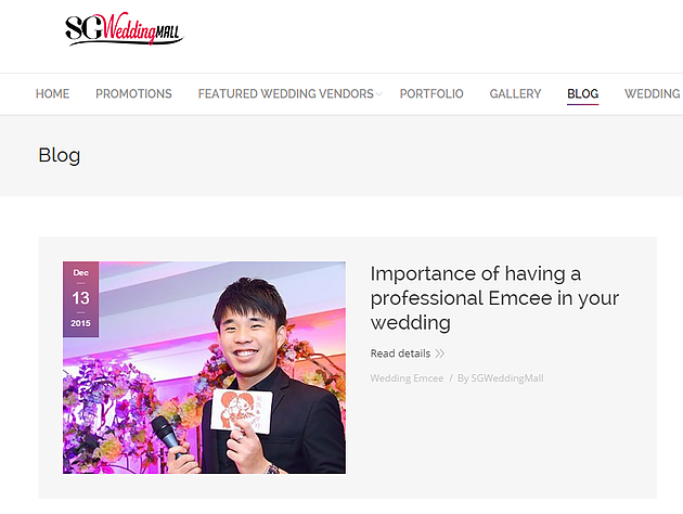wayne emcee in wedding blog