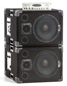 the WJ 1×10's 1000 Watt 1x10 / 500 Watts per side stereo/mono bass cabinets and the WJBP Bass Guitar Pre-Amp