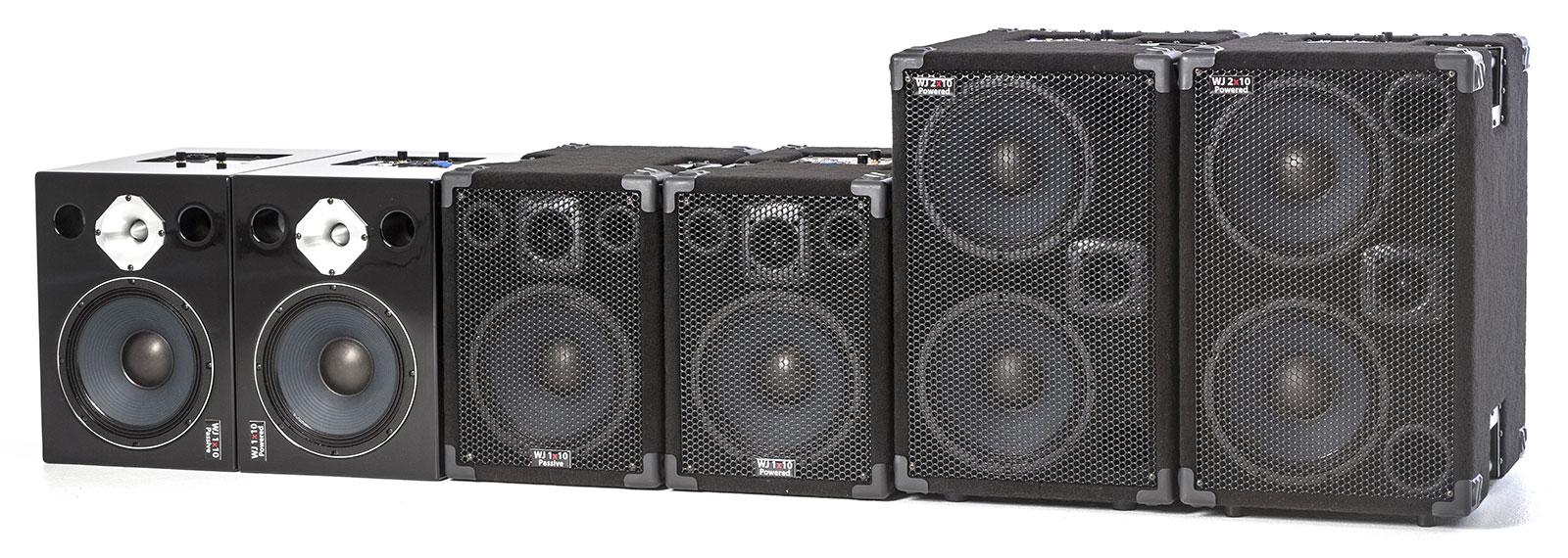 Wayne Jones Audio Hi Powered, Hi End Bass Cabinets & Hi Fi Studio Monitors - Product Range