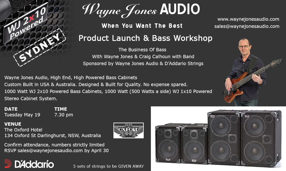 Wayne Jones AUDIO - Sydney product launch