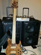 David Dyson's bass guitar rig