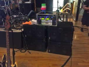 """Why do things by halves? Do them with 4000 Watts!!! Carl Young Music, bassist for Michael Franti and Spearhead showing """"Now this is a bass rig!"""""""