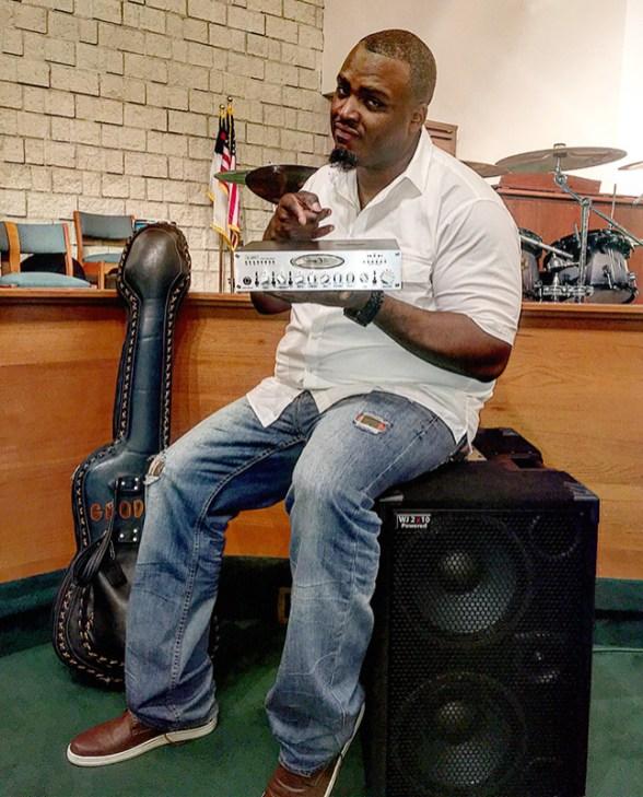 Garrett Body, bass player and endorser of Wayne Jones AUDIO bass guitar rigs.