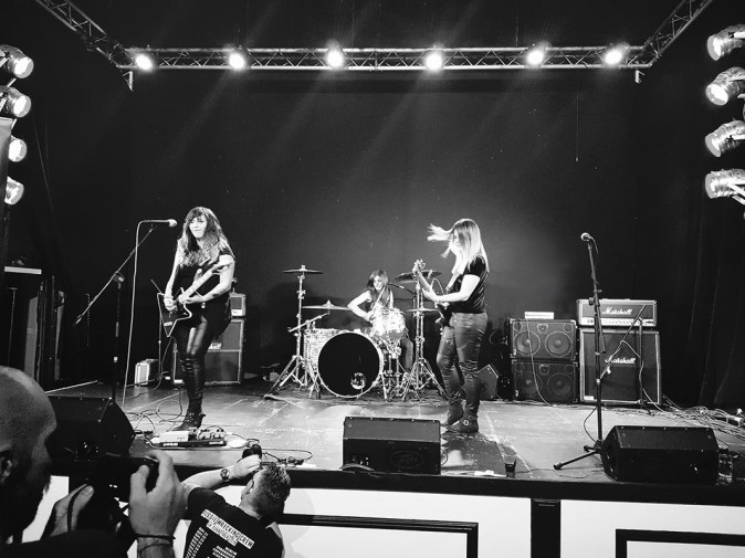 Jess Reily, bass player for Australian powerhouse rock trio, Tequila Mockingbyrd