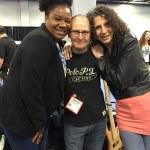Adrienne C. Moore, Wayne Jones and Marie Gabrielle at NAMM 2016.