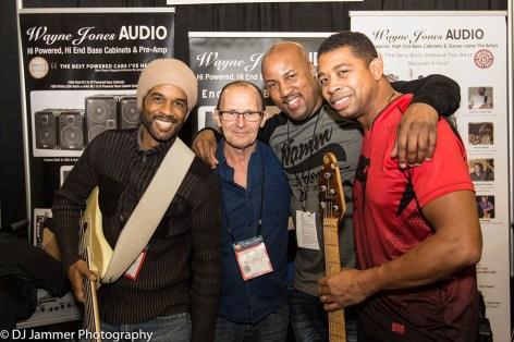 André Berry, Wayne Jones, Kevin Walker and David Dyson. NAMM 2017