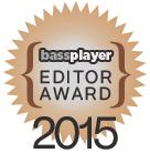 Bass Player Magazine Editor Award for Wayne Jones AUDIO bass guitar rigs 2015